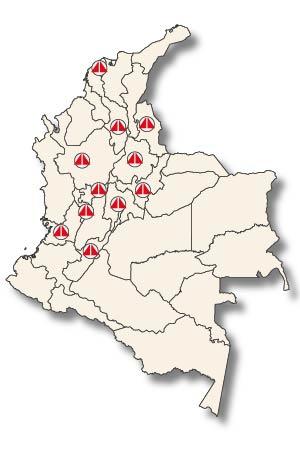 Presencia de ACIEM en Colombia