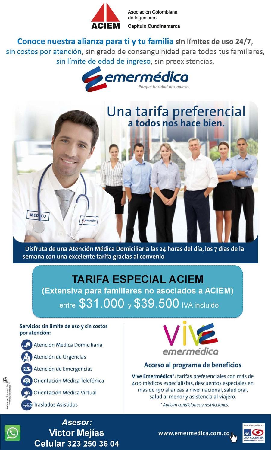 Convenio Emermédica - ACIEM Cundinamarca